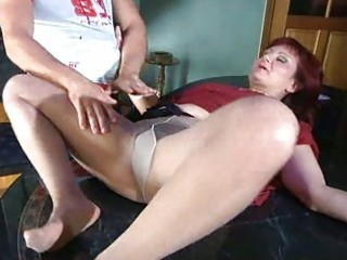 Pantyhose amateur hard